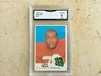 1969 TOPPS BOBBY BELL KANSAS CITY CHIEFS CARD #153 - GRADED EXCELLENT-NM (6)