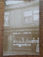 Postcard PATRINGTON East Yorkshire Holderness Real Photo H Medforth Grocers
