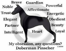 Doberman Pinscher Dog Obsession? T-shirt Sale Blue w/ Black Size Large only one