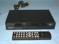 APEX ~ DIGITAL TV CONVERTER BOX ~ WITH REMOTE CONTROL ~ MODEL # DT-502