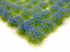 6mm BLUE FLOWERS 117 Self-Adhesive TUFTS by Warpainter in UK w FAST USA SHIPPING