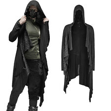 Herren Gothic Zipfeljacke mit Kapuze Men's Punk Rave Nu Goth Jacket with Hood