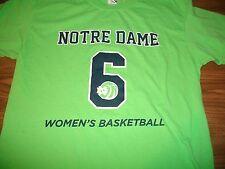 Notre Dame Fighting Irish Women's Basketball 2014-15 6th Man Roster T-Shirt Lg