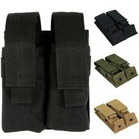 Nylon Mag Pouch Tactical Double Molle Pistol Magazine Pouches for 1911 Glock 9mm