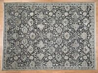 "9'x12'1"" Oushak Influence Pure Silk With Oxidized Wool HandKnotted Rug G42716"