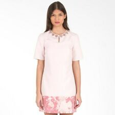 Ted Baker Embellished Neck Tunic Dress 0 UK 6 Party Pink Red