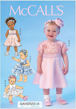 McCall's 7037 Sewing Pattern to MAKE Infant Dresses suit Christening Wedding Etc