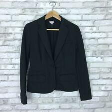 Merona Womens XS Ponte Knit Stretch Blazer One Button Solid Black Slim Fit