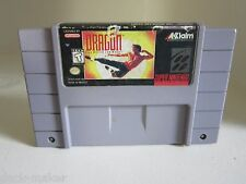 Dragon: The Bruce Lee Story Super Nintendo SNES Looks rough, Plays great.