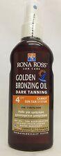 Rona Ross Golden Bronzing Oil Dark Tanning SPF 4 (160ml)  EXPRESS P&P