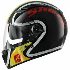 Shark Vision-R Escapade Full Face Street Motorcycle Helmet Black Yellow Small SM