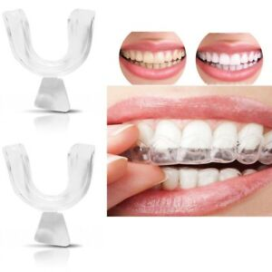 4x Silicone Night Mouth Guard for Teeth Clenching Grinding Dental Sleep Aid HOT!