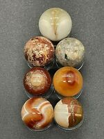 7 BEAUTIFUL COLLECTABLE OXBLOOD CARNELIAN STONE /MINERAL AGATE SPHERES MARBLES