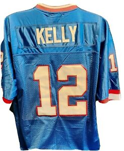 Jim Kelly Throwback Mitchell & Ness Replica Blue 1994 breathable 46 small men