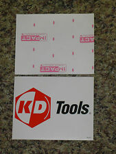"TEN 10 VINTAGE KD TOOLS RACING STICKERS DECALS MINT! 5"" x 4"""