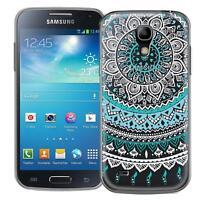 Schutzhülle Samsung Galaxy S4 Mini Hülle Silikon Handy Tasche Mandala Case Cover