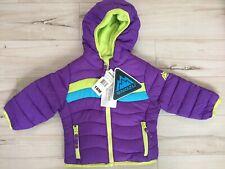 Snozu Girl's Fleece Lined Ultra Clean Down Puffer Jacket (PURPLE, 18M) NWT