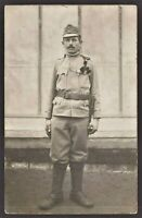 WW1 AUSTRO-HUNGARIAN SOLDIER.ANTIQUE RPPC PHOTO POSTCARD