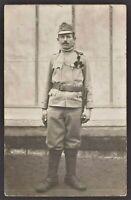 WW1 AUSTRO-HUNGARIAN SOLDIER.ANTIQUE RPPC PHOTO POSTCARD