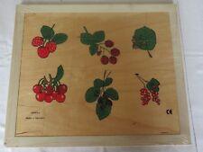 Beleduc Puzzle Rahmenpuzzle 24 Teile Holz Germany - Schmetterlinge Früchte NEU