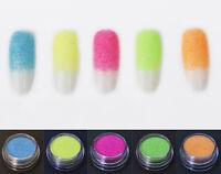 5 UV Neon Fine Dust Glitter Set-Festival Clubbing Dance Cosmetic Face Eye Body