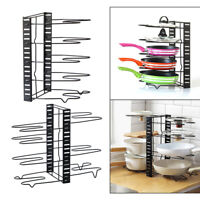 5/8 Tier Holder Pan Pot Lid Pantry Rack Cookware Organizer Stand for Kitchen