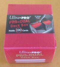 Ultra Pro #82983 Red Pro-Dual Deck Box NIP. MTG Pokémon Yu-Gi-Oh
