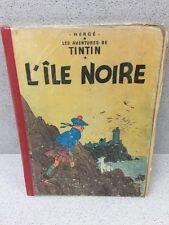 COLLECTION TINTIN HERGE TINTIN L'ILE NOIRE B19 1956