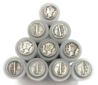 Full Tube of 90% SILVER MERCURY DIMES! Vintage Estate Sale Authentic Bullion Set