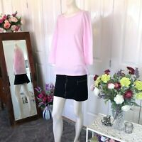 Target Pink skivvy top Size 12 14 Womens