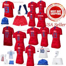 USA Morgan Lavelle Lloyd Rapinoe Ertz Heath Pulisic Kids Jersey Kit Age 5-13 Yrs