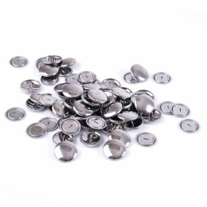 Hemline Self Cover Buttons: Metal 11 mm, 15 mm, 19 mm, 22 mm, 29mm x 10-100
