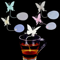 Butterfly tea bags strainers silicone teaspoon filter infuser silicone BDAU