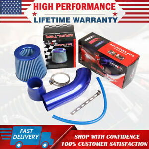 """3"""" Car Cold Air Intake Filter Alumimum Induction Kit Pipe Hose System Universal"""