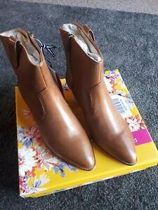 Tan Joules Womens Cheltenham Leather Chelsea Boot