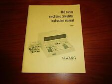 ORIGINAL (!!) Wang 380 Calculator user manual