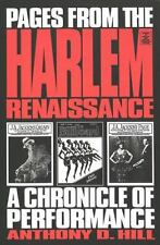 Pages from the Harlem Renaissance: A Chronicle of Performance (Studies in