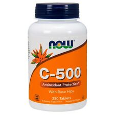 NOW Foods Vitamin C-500, 250 Tablets