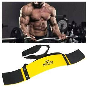 UK KING Yellow Bicep Isolator Gym  Bar Curl Blaster Arm Training Weight Lifting