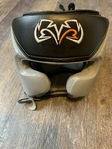 Boxing Headgear Rival RHG10 Intelli-Shock d30 - Black / Gray - Small