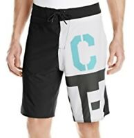 Reebok Crossfit Mens RCF Training Core Board Shorts Black & White B82293 Size 33