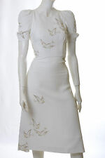 PRADA White Bird Print Dress IT38/US4