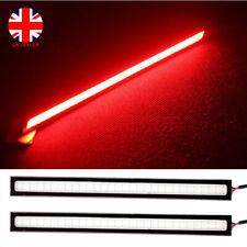 2pcs LED Car Strips 12V Daytime Running Lights Red Bar Interior Decoration Lamp