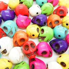 25 x Wholesale Turquoise Skull Head Beads 13mm x 12mm Hole Size 1mm Mixed Colour