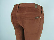 Seven 7 For All Mankind THE SKINNY Women LEGGING 24 BROWN TAN RUST SUEDE LEATHER