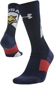 Under Armour Men's Women's USA Navy Eagle Cushioned Crew Socks  Medium