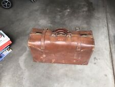 Antique Leather Suitcase Warrented Sole Leather