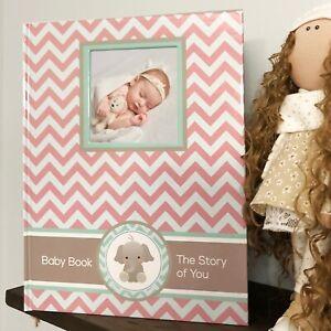 Baby Memory Book - Newborn Journal - Baby First Year Book - Baby Shower Girl NEW