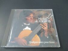 "CD ""NICOLAS DE ANGELIS : QUELQUES NOTES POUR ANNA"" guitare"