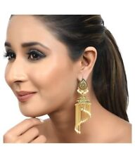 Bollywood Traditional Jewelry BAHUBALI Jhumka Jumki Dangle Gold Plated Earrings